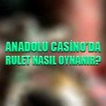 Anadolu Casino'da rulet nasıl oynanır ?